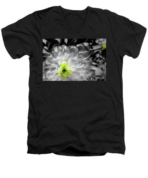 Glowing Heart Men's V-Neck T-Shirt