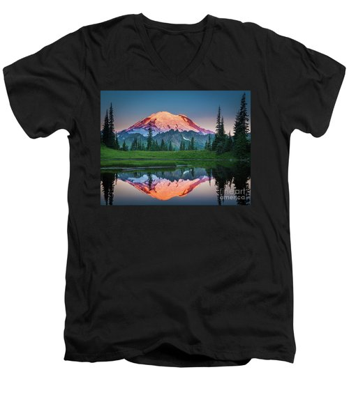 Glowing Peak - August Men's V-Neck T-Shirt