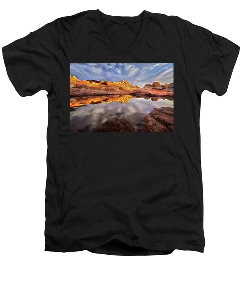 Glowing Rock Formations Men's V-Neck T-Shirt
