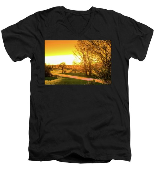 Glowing Sunset Men's V-Neck T-Shirt