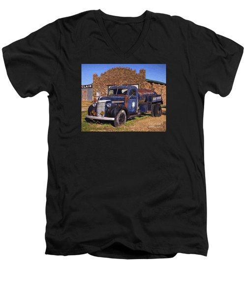 Gmc Tank Truck Men's V-Neck T-Shirt
