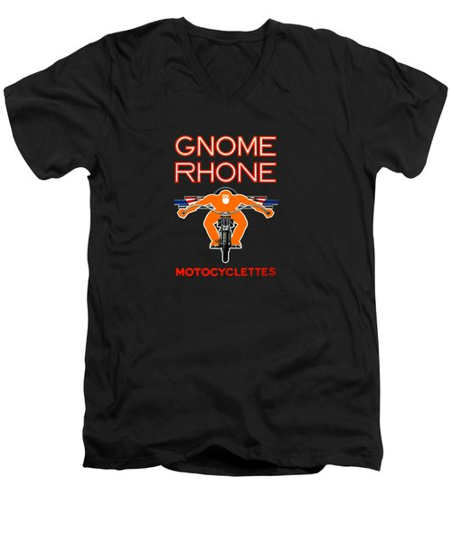 Gnome Rhone Motorcycles Men's V-Neck T-Shirt by Mark Rogan