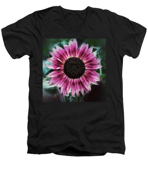 Go Pink Men's V-Neck T-Shirt by Karen Stahlros