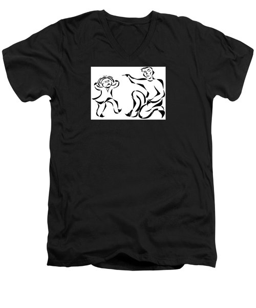 Go To Bed Men's V-Neck T-Shirt