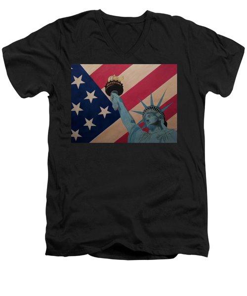 God Bless The Usa Men's V-Neck T-Shirt