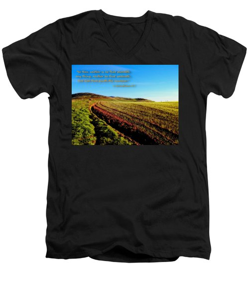 Men's V-Neck T-Shirt featuring the photograph God Gives The Increase by Glenn McCarthy