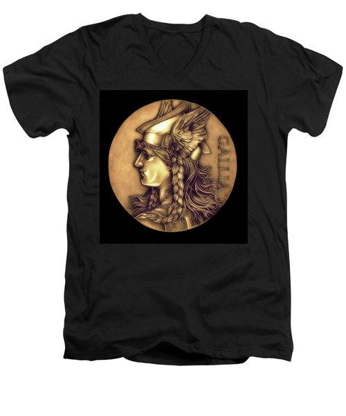 Goddess Of Gaul Men's V-Neck T-Shirt by Fred Larucci