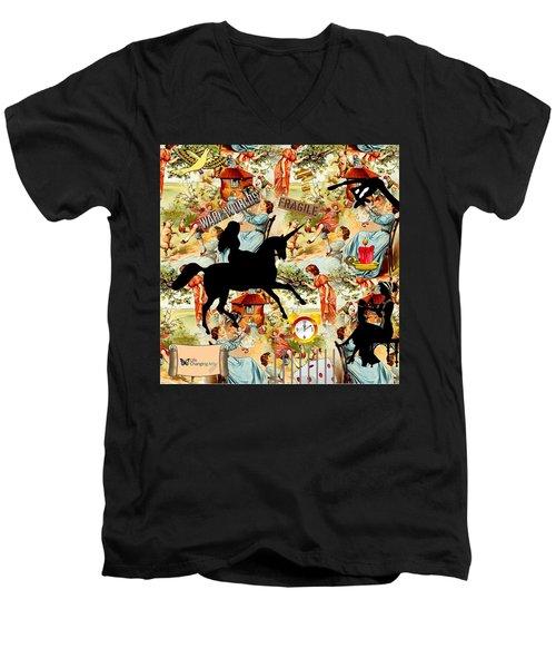 Goddess Returns Men's V-Neck T-Shirt