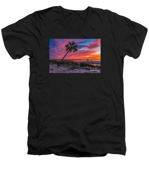 Men's V-Neck T-Shirt featuring the photograph God's Grand Finale by Brian Wright