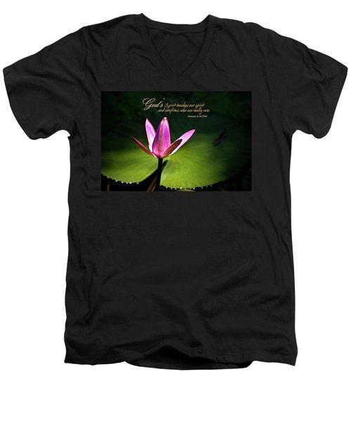 God's Spirit Men's V-Neck T-Shirt