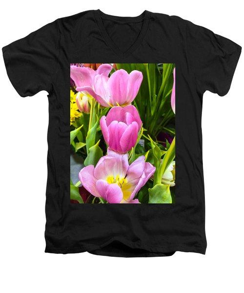 God's Tulips Men's V-Neck T-Shirt
