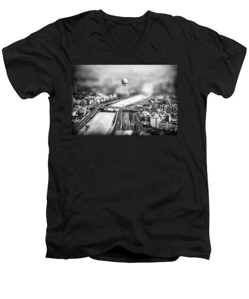 Men's V-Neck T-Shirt featuring the digital art Godseye 2 by Joseph Westrupp