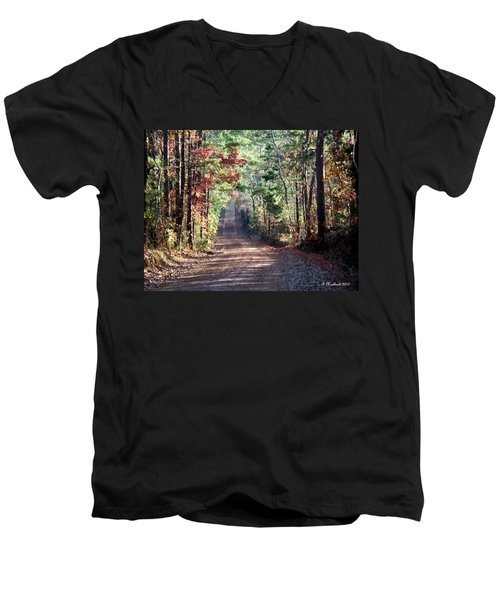 Men's V-Neck T-Shirt featuring the photograph Going Home by Betty Northcutt