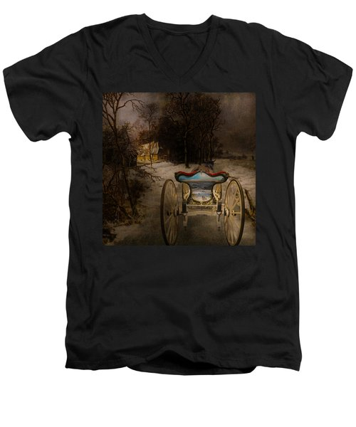 Going Home Men's V-Neck T-Shirt by Jeff Burgess