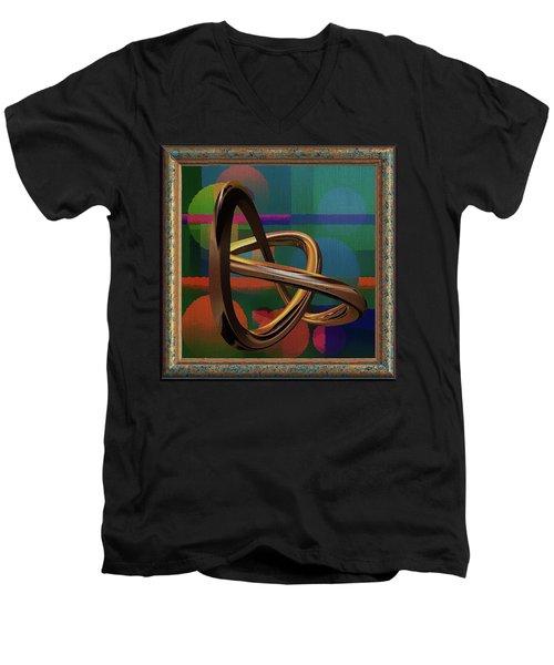 Golden Abstract Men's V-Neck T-Shirt