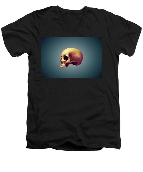 Men's V-Neck T-Shirt featuring the photograph Golden Child by Joseph Westrupp