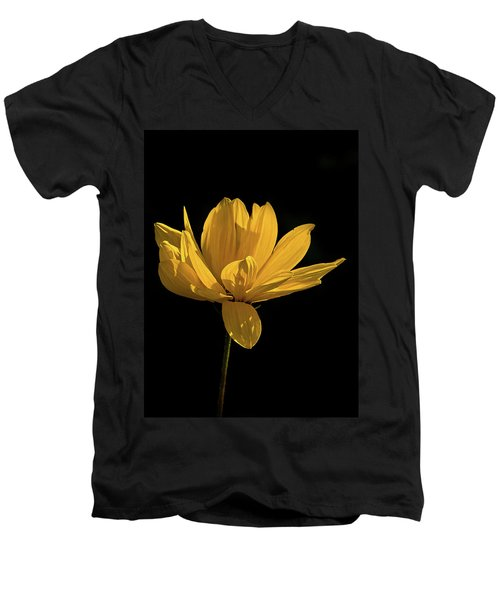 Golden Coreopsis Men's V-Neck T-Shirt by Jacqi Elmslie