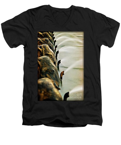 Golden Elephant Fountain Men's V-Neck T-Shirt