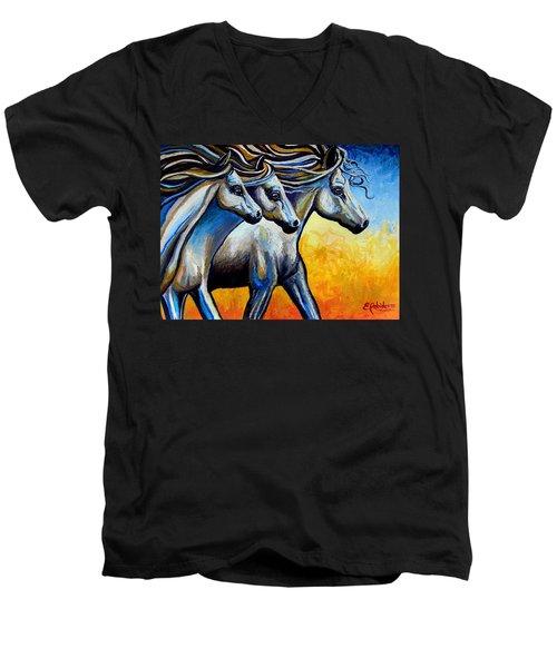 Golden Embers Men's V-Neck T-Shirt