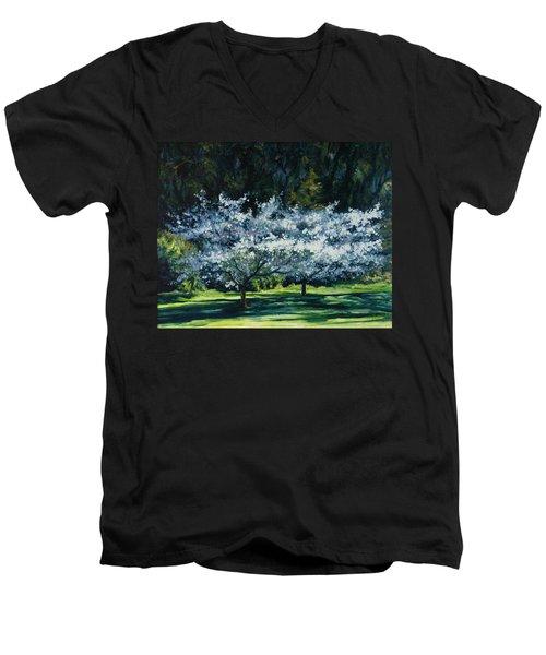 Golden Gate Park Men's V-Neck T-Shirt by Rick Nederlof