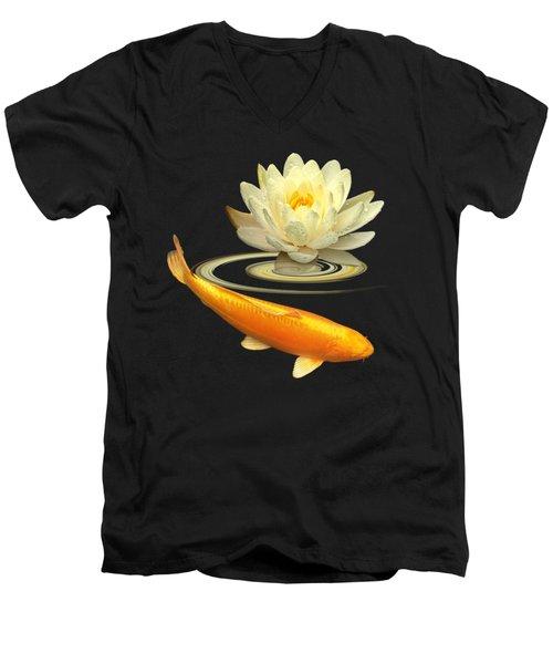 Golden Harmony Square Men's V-Neck T-Shirt