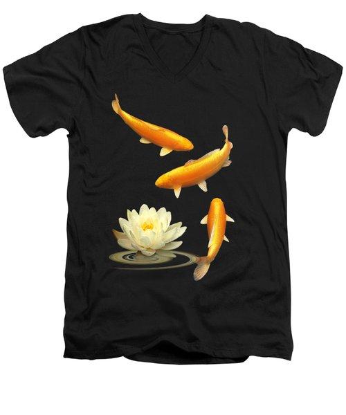 Golden Harmony Vertical Men's V-Neck T-Shirt