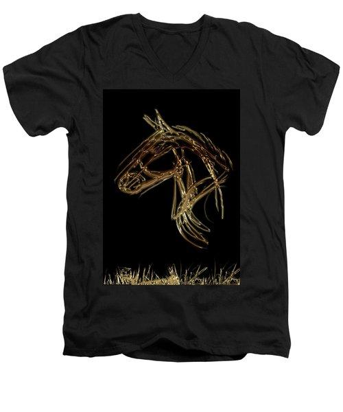 Golden Horse Men's V-Neck T-Shirt