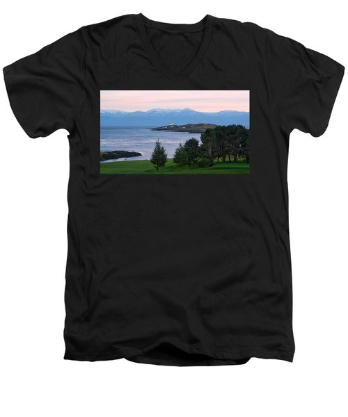 Trial Island Sunset Men's V-Neck T-Shirt by Keith Boone
