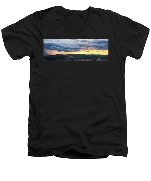 Golden Hour In Volterra Men's V-Neck T-Shirt