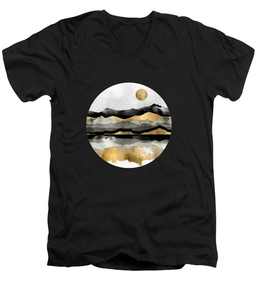 Golden Spring Moon Men's V-Neck T-Shirt