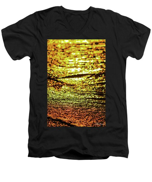 Golden Waters Men's V-Neck T-Shirt
