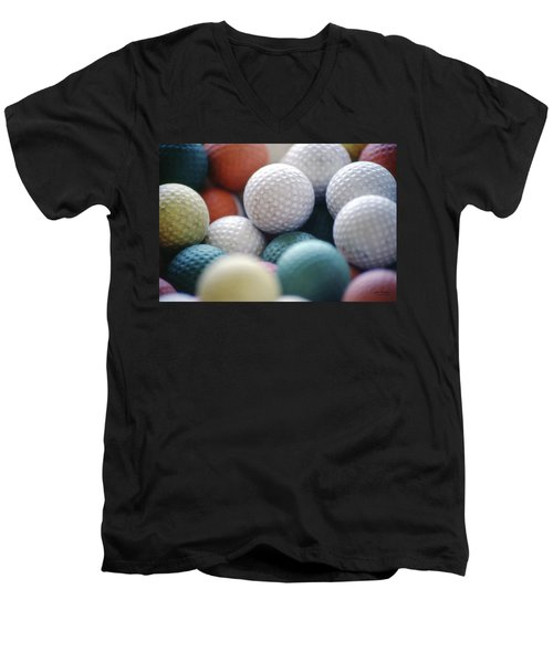 Golf Balls Men's V-Neck T-Shirt