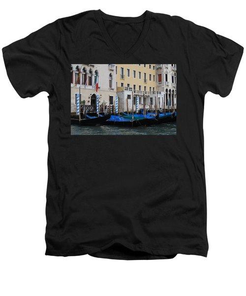 Gondolas At Rest Men's V-Neck T-Shirt