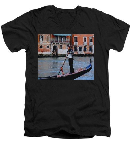 Gondolier Venice Men's V-Neck T-Shirt