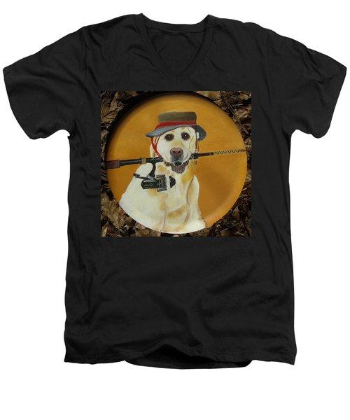 Gone Fishin' Men's V-Neck T-Shirt