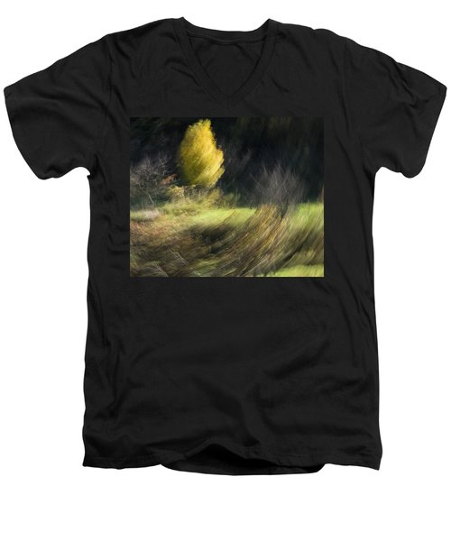 Gone With The Wind Men's V-Neck T-Shirt by Raffaella Lunelli