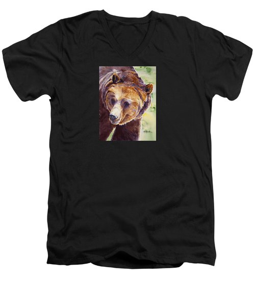 Good Day Sunshine - Grizzly Bear Men's V-Neck T-Shirt