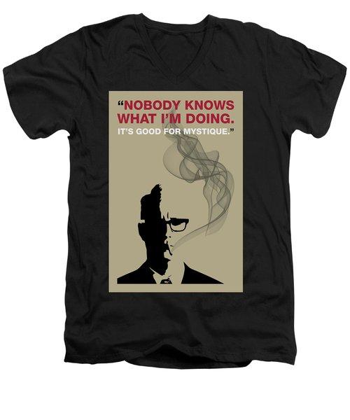 Good For Mystique - Mad Men Poster Roger Sterling Quote Men's V-Neck T-Shirt