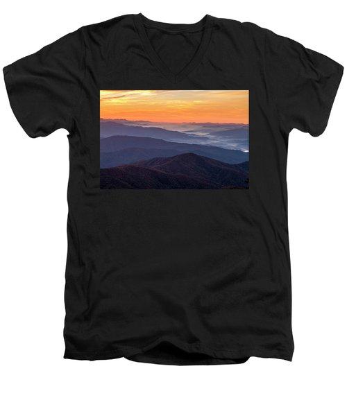 Good Morning Clingmans Dome In The Smokies Men's V-Neck T-Shirt