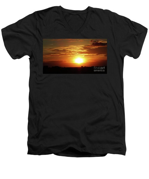 Men's V-Neck T-Shirt featuring the photograph Good Morning Sun  by J L Zarek