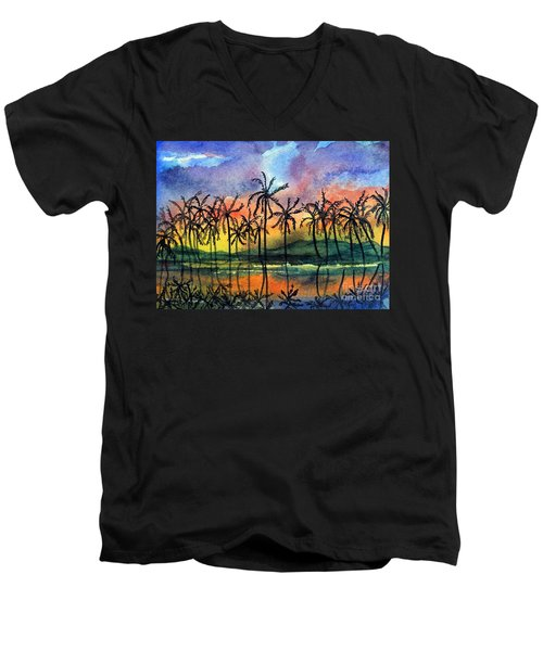 Good Night Hawaii Men's V-Neck T-Shirt