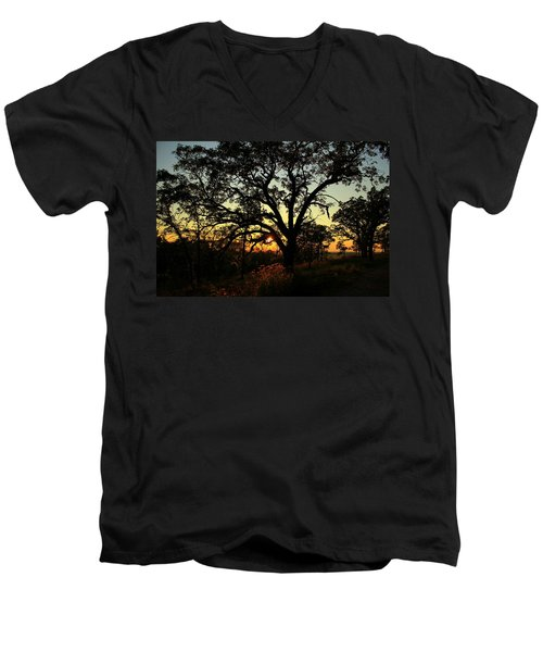 Good Night Tree Men's V-Neck T-Shirt