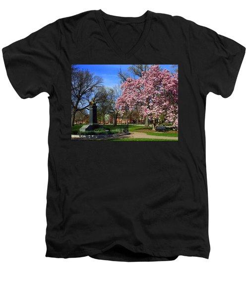 Goodale Park In The Spring Men's V-Neck T-Shirt