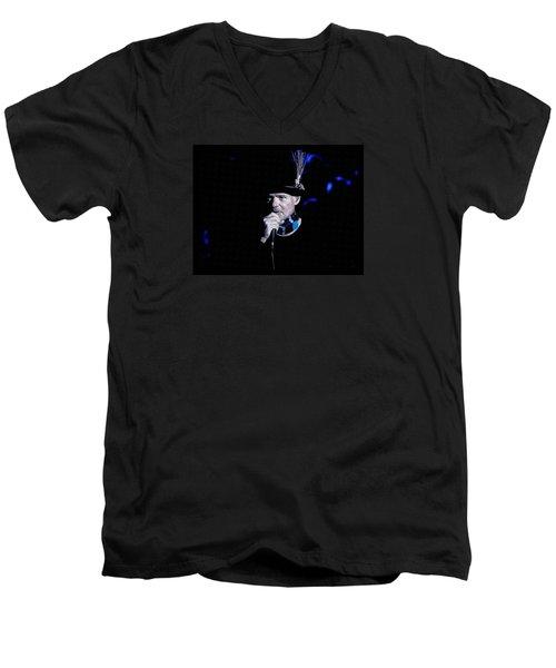 Gord Downie In Concert Men's V-Neck T-Shirt by Maciek Froncisz