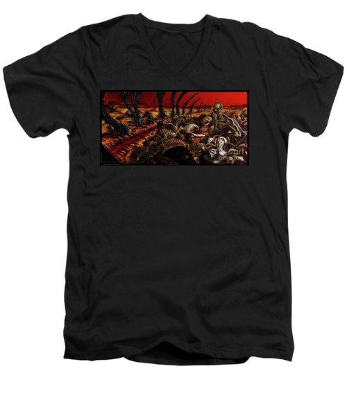 Gored-explored Men's V-Neck T-Shirt