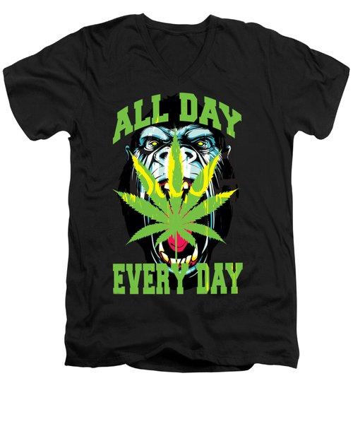 Gorilla Warfare  Men's V-Neck T-Shirt