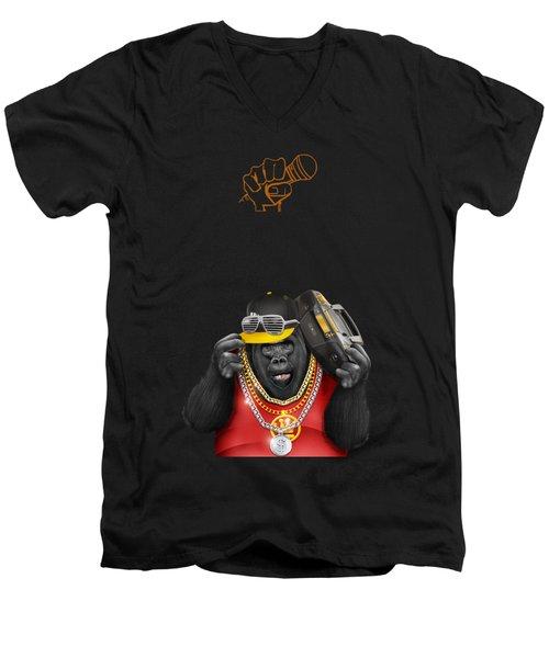 Gorillaz Hip Hop Style Men's V-Neck T-Shirt