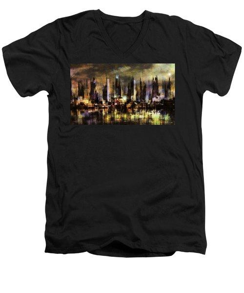 Gotham City IIi Men's V-Neck T-Shirt