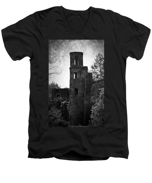 Gothic Tower At Blarney Castle Ireland Men's V-Neck T-Shirt
