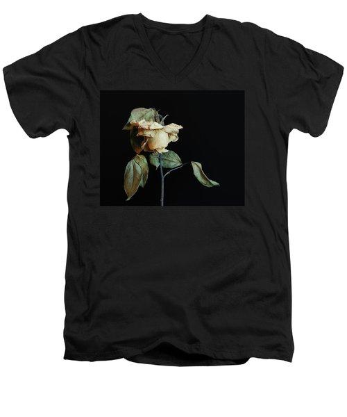 Graceful Aging Men's V-Neck T-Shirt by Art Shimamura